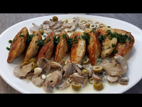 croissants-de-poulet-farcis-avec-une-sauce-blanche