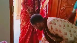 Marriage style Bride come to his husband home 1st time in manglore style