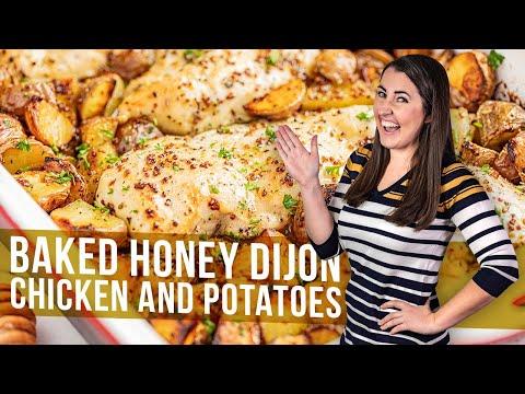 Honey Dijon Baked Chicken and Potatoes
