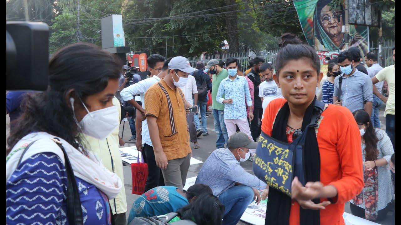 শাহবাগের মঞ্চে বাঘের গর্জনে আসমানী আশার জ্বালাময়ী স্লোগান আগুন জ্বালো হুংকার asmani asha bd news tv