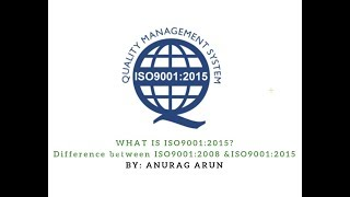 What is  ISO9001:2015? Difference between ISO9001:2008 & ISO9001:2015.