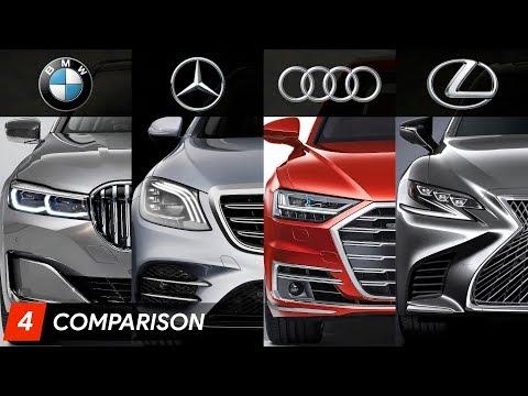 2020 BMW 7 Series Vs Mercedes S Class Vs Audi A8 Vs Lexus LS ► Design & Specifications