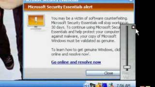 MICROSOFT SECURITY ESSENTIALS CRACK/ BYPASS FOR XP AND 7.