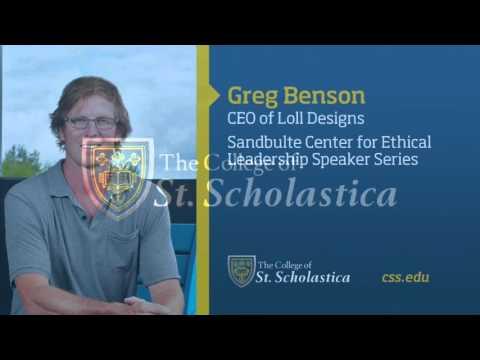 Sandbulte Center for Ethical Leadership Speaker Series: Greg Benson