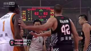 China Shaq vs Dalemberg Fight! | CBA 2016-17 First Fight!