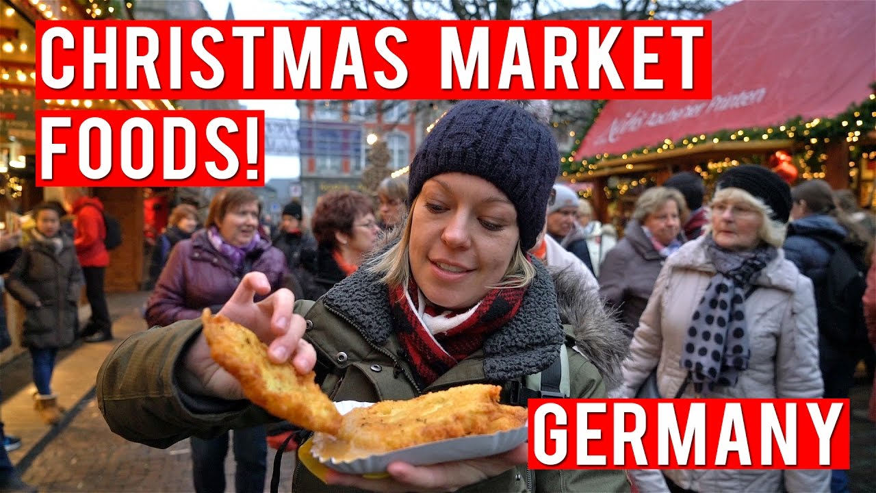 foods to eat at a german christmas market youtube