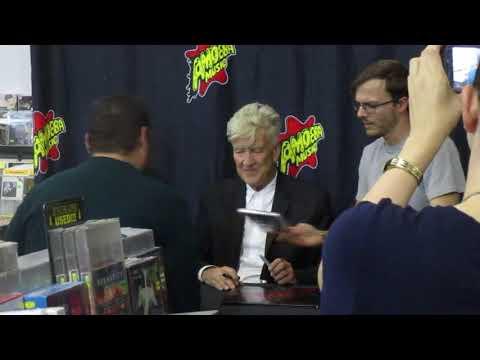 David Lynch greets fans in Hollywood at Amoeba Music store