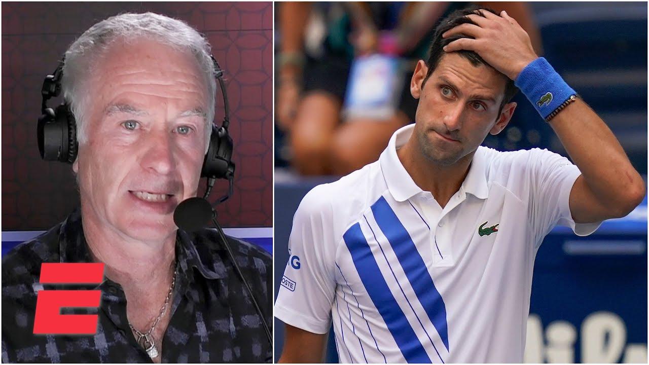 John Mcenroe Reacts To Novak Djokovic Default 2020 Us Open Youtube