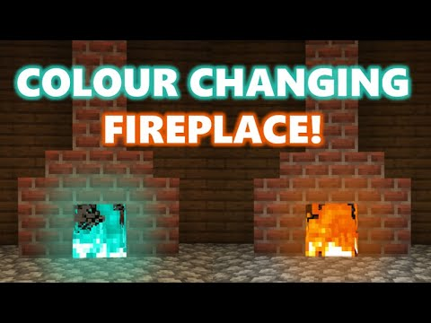 Minecraft 1.16 - How To Build A Colour-Changing Fireplace