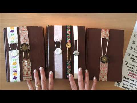 DIY Junk Journal Closures/Ribbon Bookmarks (EASY tutorial) thumbnail