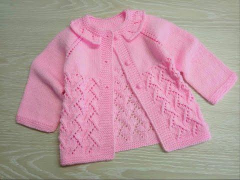 Вязание спицами детские кофточки