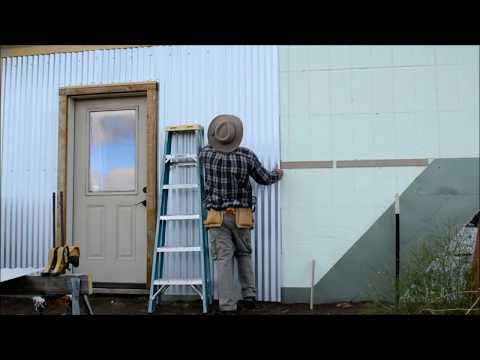 DIY - corrugated steel siding install on ICF - Part 3  - Off Grid Homestead