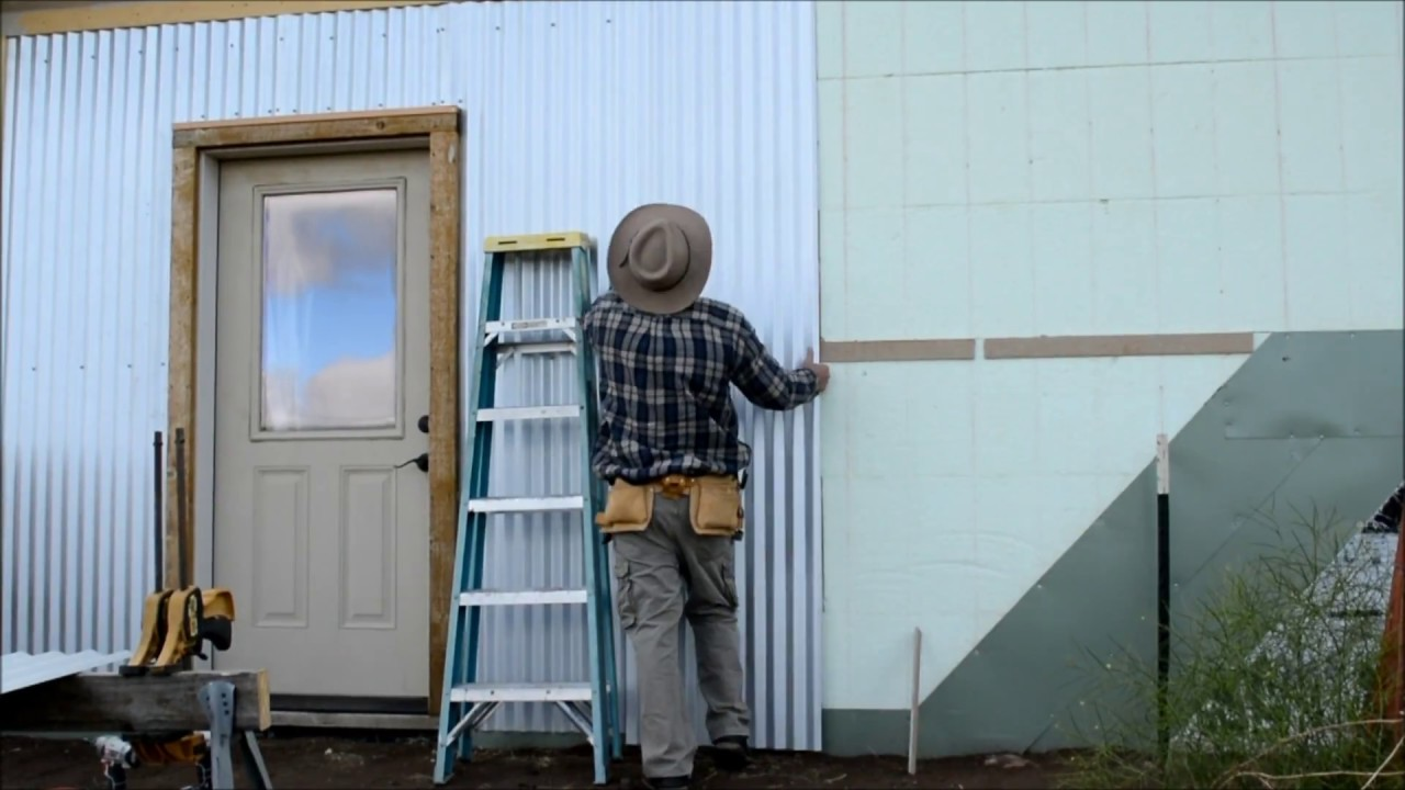 Diy Corrugated Steel Siding Install On Icf Part 3