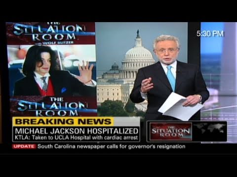 Cnn Cnn Covers Michael Jackson39s Death Youtube