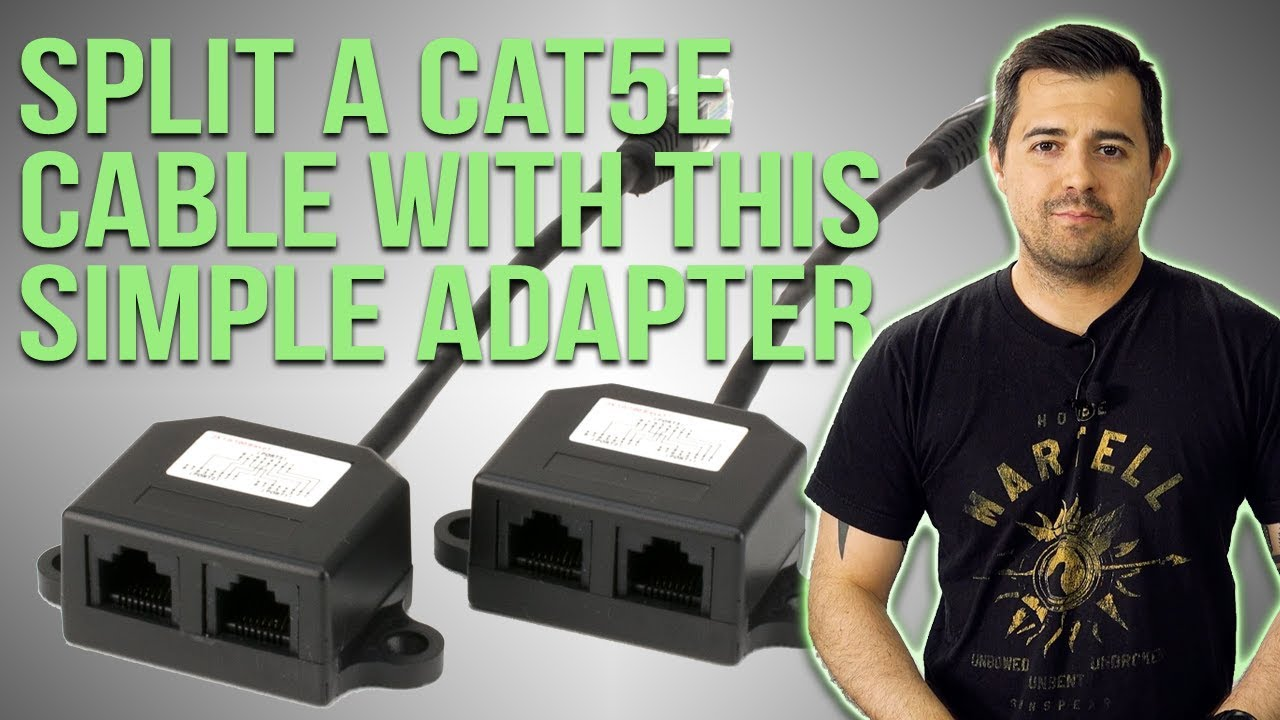 Split a CAT5e Cable into TWO lines with this adapter. - YouTube  YouTube