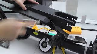 How to take out the scooter's battery