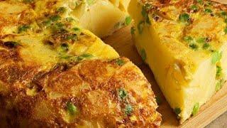 Spanish Omelette Recipe  Easy Breakfast Recipe  How to Make Spanish Omelette  Egg Snacks