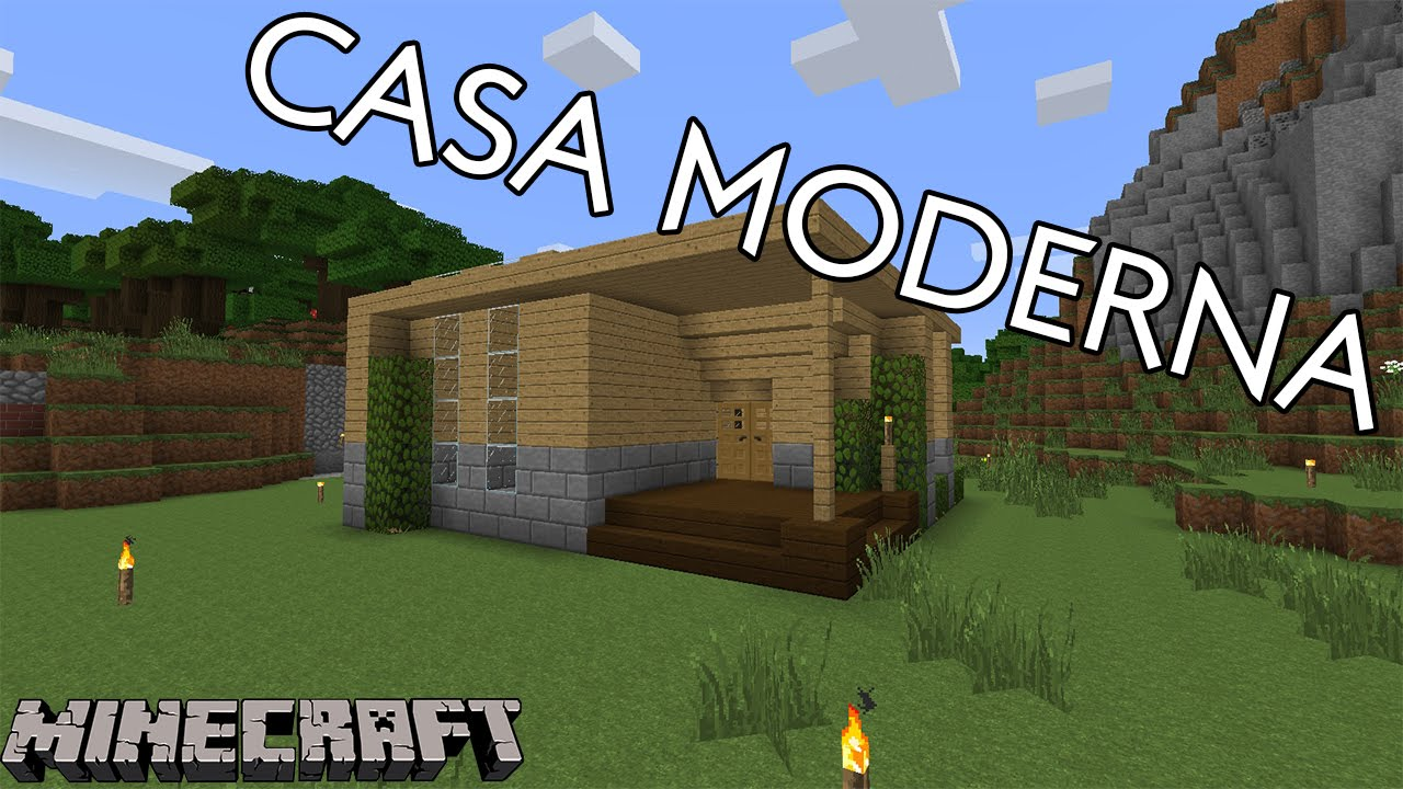 Casa moderna p survival 2 decora o minecraft tutorial for Casa moderna 10x10 minecraft