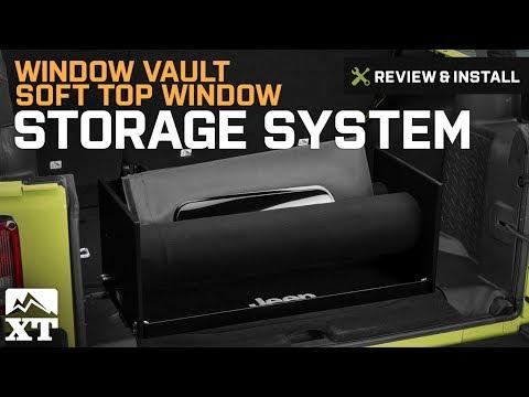Jeep Wrangler Window Vault Soft Top Window Storage System (1987-2017 YJ, TJ, JK) Review & Install