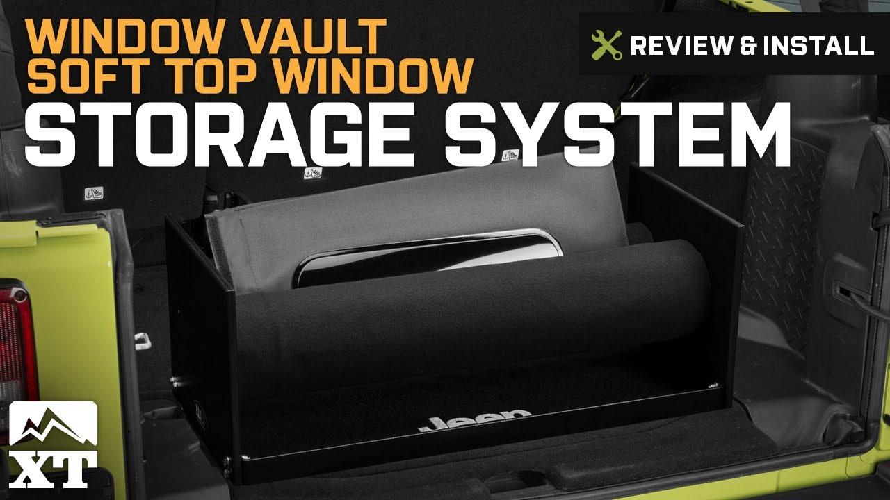 Jeep Wrangler Window Vault Soft Top Window Storage System