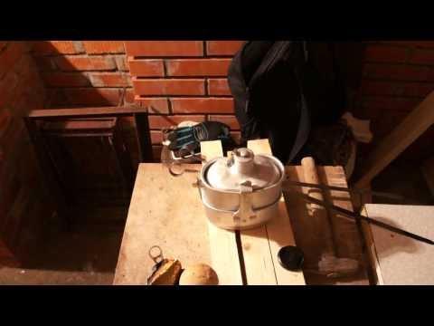 Печка-щепочница для армейского котелка своими руками
