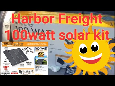 Harbor Freight 100 Watt Solar Panel Kit Youtube