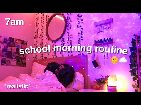 my 7AM online school morning routine/vlog *realistic*