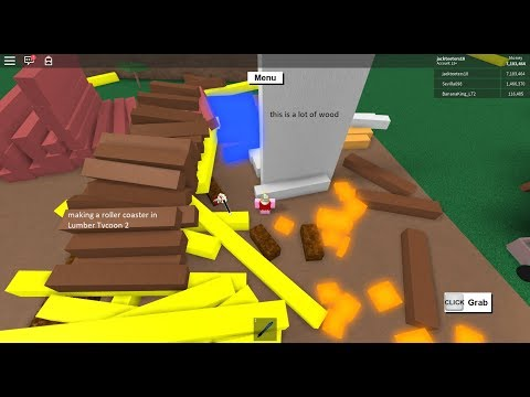 hacking in Lumber Tycoon 2 + roller coaster