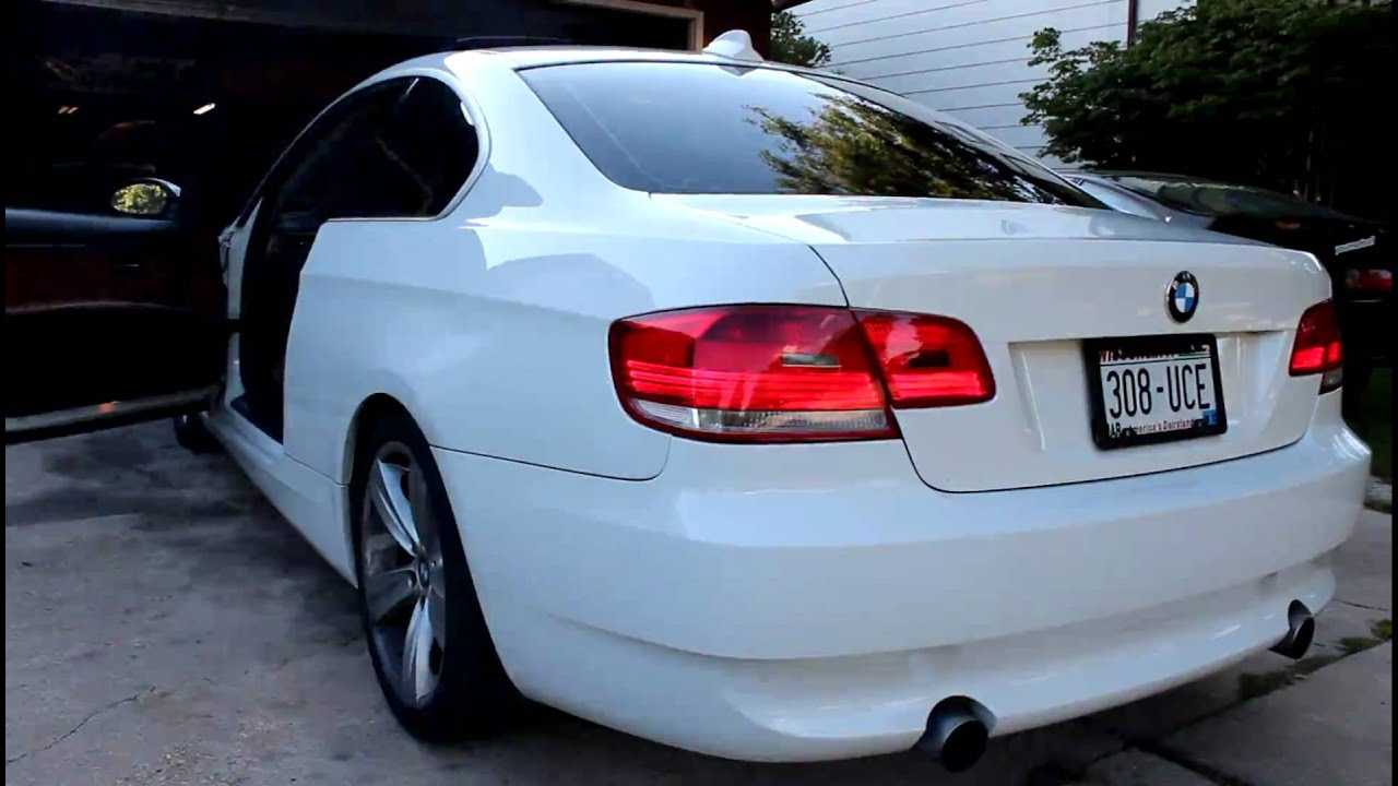 e92 bmw 335i twin turbo n54 exhaust note youtube. Black Bedroom Furniture Sets. Home Design Ideas