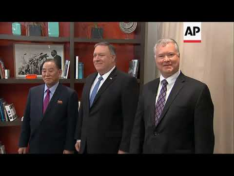 Pompeo, NKorea envoy discuss 2nd Trump-Kim summit