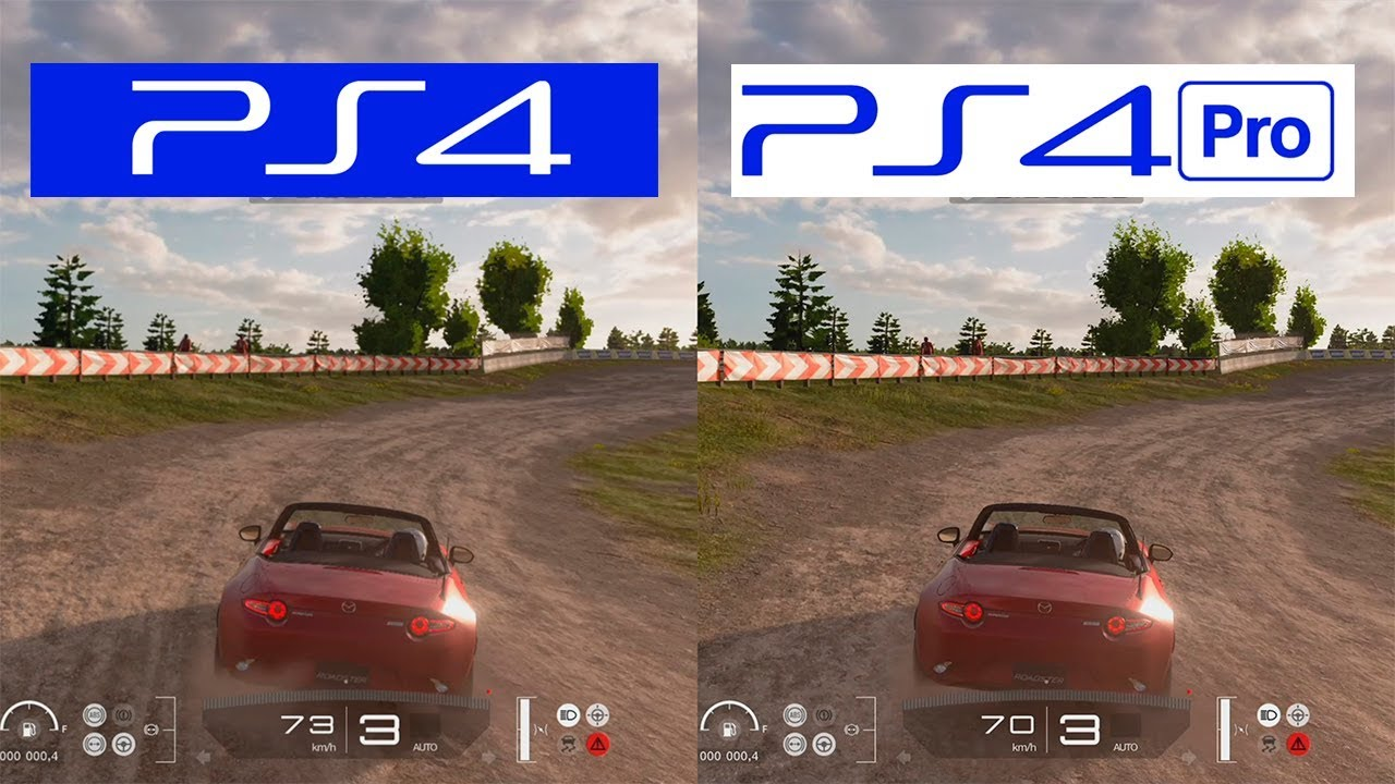 gran turismo sport ps4 pro vs ps4 graphics comparison comparativa youtube. Black Bedroom Furniture Sets. Home Design Ideas