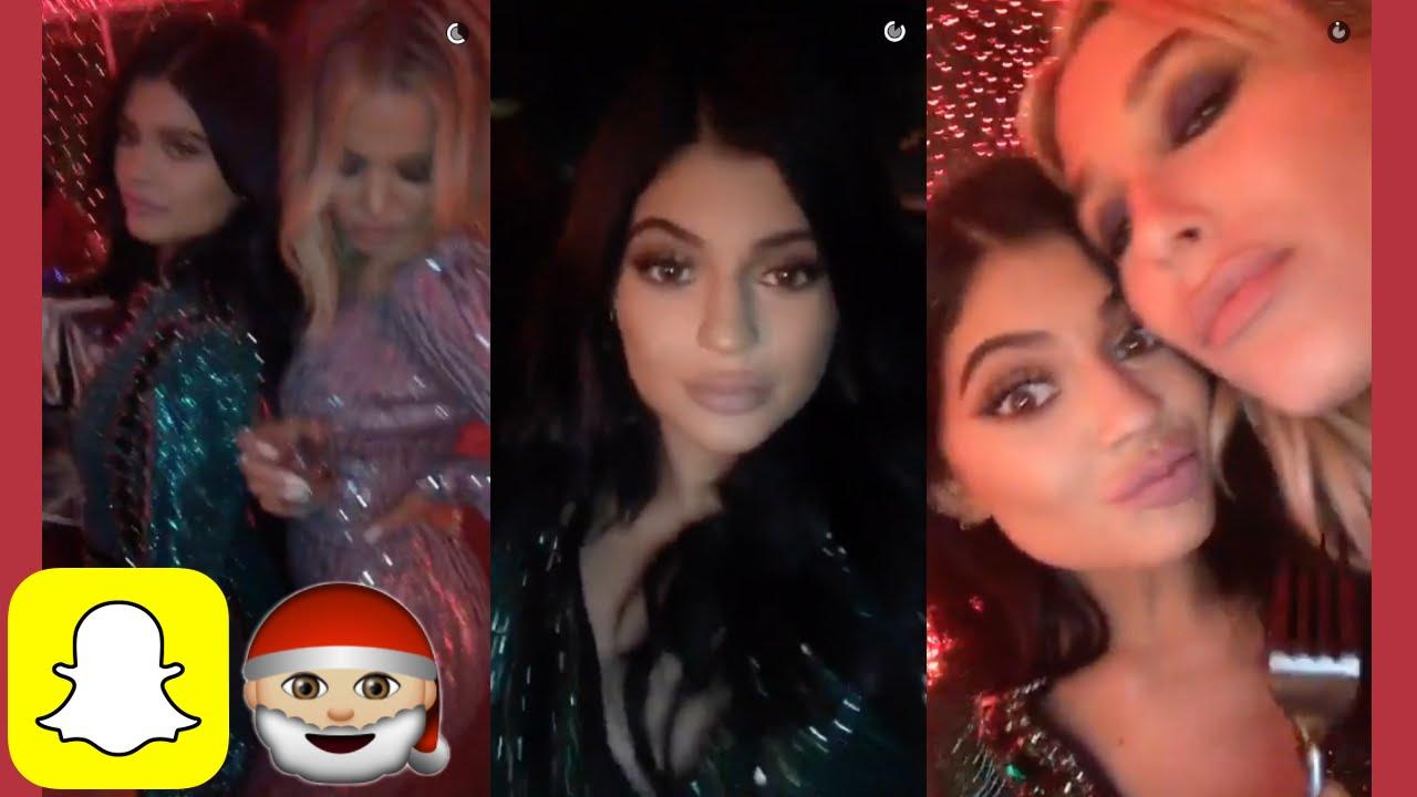 Kylie Jenner at the Jenner/Kardashian Christmas party on Snapchat ...