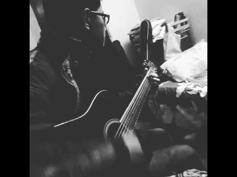 Meban playing guitar @mandavi 6 ,JNU