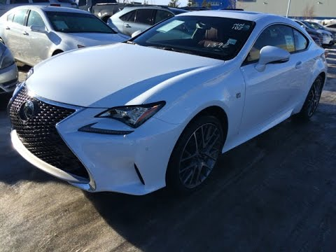 Lexus Is 350 >> New Ultra White on Red 2015 Lexus RC 350 2dr Cpe AWD F Sport Series 2 Review - Edmonton, Alberta ...