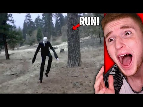 Slender Man SPOTTED IN REAL LIFE.. (RUN)