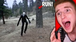 slender man spotted in real life run