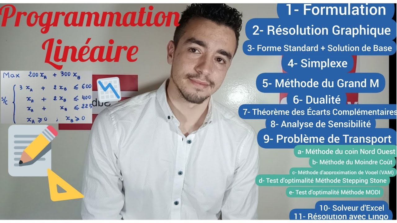 Chouaib - Programmation Linéaire (Complet avec Exemples) | شعيب - البرمجة الخطية