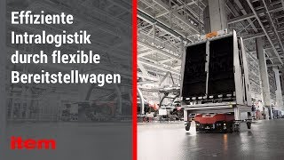Moderne Intralogistik mit item: Fahrerlose Transportsysteme bei Audi