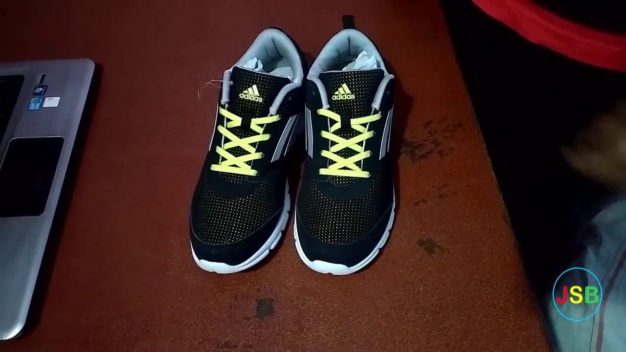 adidas uomini marlin nero m scarpe da corsa unboxing su youtube