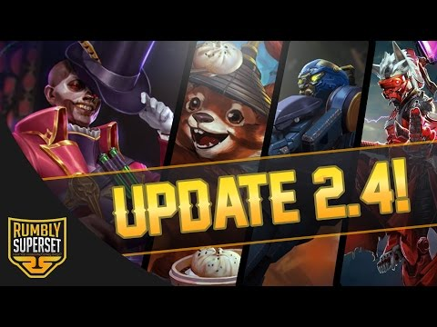 Vainglory News - UPDATE 2.4 GAMEPLAY [New Hero + All Skins]