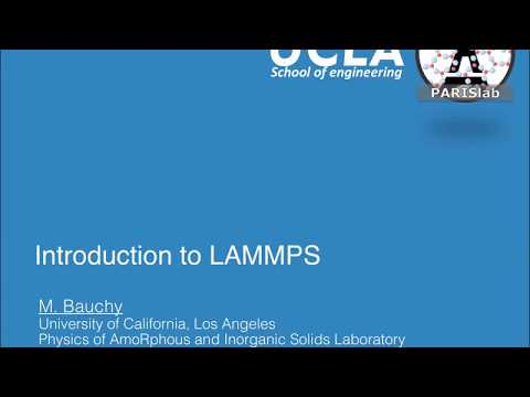 LAMMPS Example: Peptide by Eric Hahn