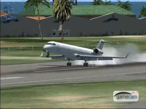 Landing a Bombradier CRJ700 FSX demo