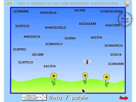 Italiano 17 esercizio con sci sce youtube for Parole con sci e sce per bambini