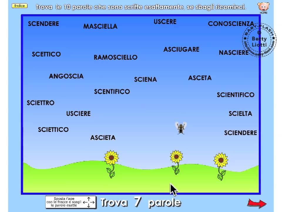 italiano 17 esercizio con sci sce youtube