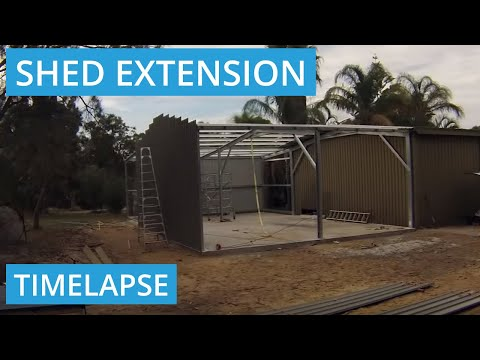 Workshop Shed Extension Timelapse in Wanneroo, WA 6065