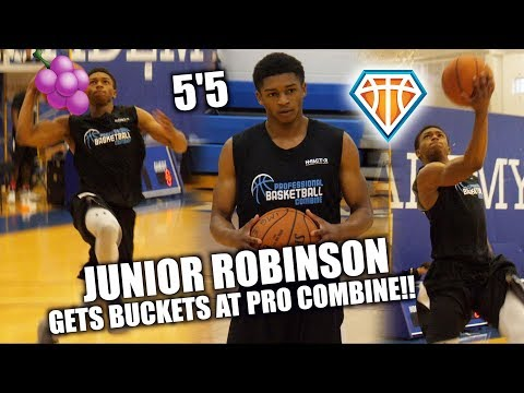 The SHORTEST PLAYER (5'5) in the NBA Draft GETS BUCKETS!! | Junior Robinson PBC Highlights