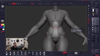 ZBrush - STYLIZED FEMALE ANATOMY (Part 3) - Follygon