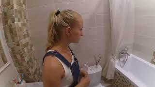 Обзор ванной комнаты.