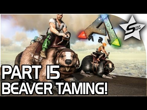 BEAVER TAMING, DAM ROBBERY!! - ARK Survival Evolved PS4 PRO Gameplay Part 15