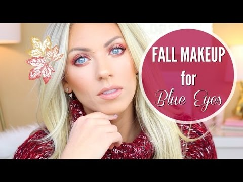 Fall Makeup for Blue Eyes | Cranberry Smoky Eye